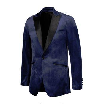 Churchill velvet blauw (0132-6)